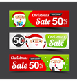 023 Collection of Merry Christmas Santa Claus tag vector image vector image