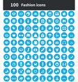 100 fashion icons vector image vector image