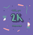 2k followers thank you template vector image