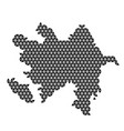 azerbaijan map abstract schematic from black vector image vector image