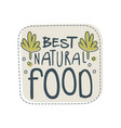 beast natural food logo template label for vector image