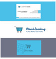beautiful cart logo and business card vertical vector image vector image
