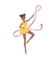 Black Professional Rhythmic Gymnastics Sportswoman vector image vector image