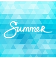 Blue Geometric Background with Text Summer vector image vector image