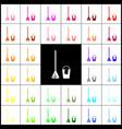 broom and bucket sign felt-pen 33 vector image vector image