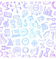 business doodle icons background with place vector image vector image