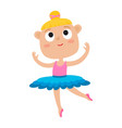 cartoon of happy little girl vector image