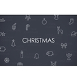 Christmas Thin Line Icons vector image vector image