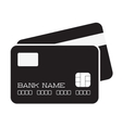 credit card isolated icon vector image