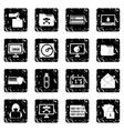 Criminal activity set icons grunge style