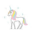 cute unicorn art for badesign or kids print t vector image