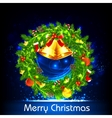Decorated Christmas Wreath vector image vector image
