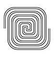 design monochrome labyrinth background vector image