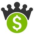 Financial Power Flat Icon vector image vector image