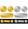 Gold and silver buttons vector image vector image
