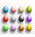 happy easter colored eggs set with shadows on vector image vector image