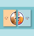 happy father day card dad son before and after vector image
