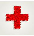 Heart Cross vector image vector image