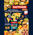 infographics of fast food with world map vector image