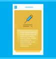 injection mobile vertical banner design design vector image vector image