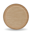 Isolated Circle Cutting board Dark Brown Oak Wood vector image