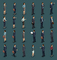 isometric people isometric businessmen vector image vector image