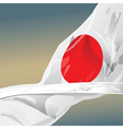 Japan flag wave in the wind of win vector image