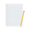 line a sheet paper with margins vector image