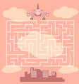 maze with airplane - game for children vector image