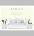 Modern bedroom background Interior design 7 vector image vector image