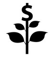money tree icon vector image vector image