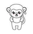 monkey kawaii cartoon vector image