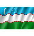national flag of uzbekistan republic vector image vector image