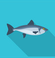 ocean fish icon flat style vector image vector image
