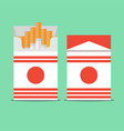 pack of cigarettes isolated on background vector image vector image