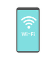phone wifi icon vector image vector image