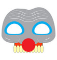 scary clwon mask vector image