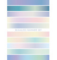 seamless banner set vector image vector image