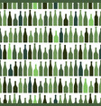 seamless pattern of rows of multi-colored wine vector image vector image