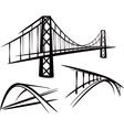 set bridges vector image vector image