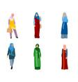 set muslim women vector image vector image
