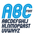 set of rounded bold capital alphabet letters made vector image vector image