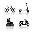 set of transport icons - extreme sports vector image