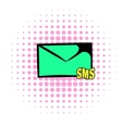 Sms icon comics style vector image vector image