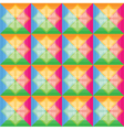 Squares pattern retro color background vector image