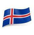 State flag of Iceland vector image vector image
