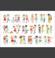 teenager couples in love vector image vector image