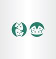 theatre masks icon logo symbol vector image vector image