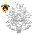 tiger head logo with flame vector image