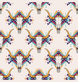 tribal seamless pattern with bull skull and vector image